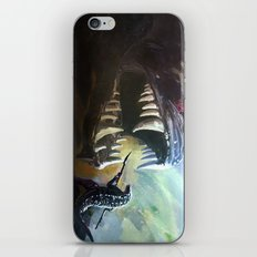 Alligator fight iPhone & iPod Skin