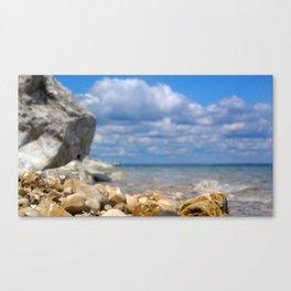 Low Angle Rocky Lake Shore Canvas Print