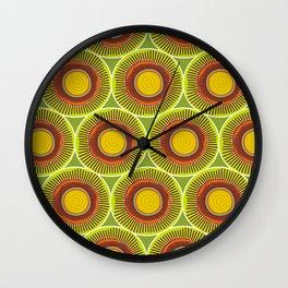 Green spirals and swirls Wall Clock