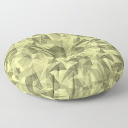 Abstract Geometrical Triangle Patterns 3 VA Lime Green - Lime Mousse - Bright Cactus Green - Celery Floor Pillow