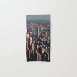 Empire State Building seen from a plane Hand & Bath Towel