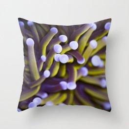 Coral Euphylia Golden Torch Throw Pillow