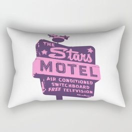 Seeing Stars ... Motel ... (Purple/Pink Sign) Rectangular Pillow