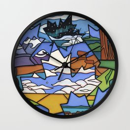FROM SEA TO SEA TO SEA Wall Clock