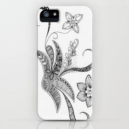 Floral Zentangle iPhone Case