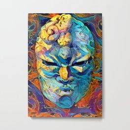 Stone mask Metal Print