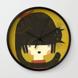 NAPPY HAT Wall Clock