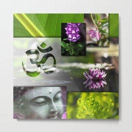 Buddha & Chakra Zen Collage Metal Print