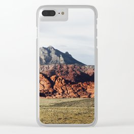 Colorful Mountain Terrain Clear iPhone Case