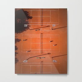 Tennis court orange Metal Print