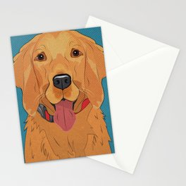 Icons of the Dog Park: Golden Retriever Design in Bold Colors for Pet Lovers Art Print Stationery Cards