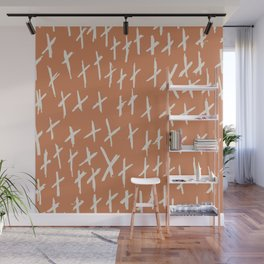 Funny XXX Abstract brush strokes vintage hand drawn illustration pattern Wall Mural