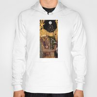 gustav klimt Hoodies featuring Klimt´s Judy Collage 2 by Marko Köppe