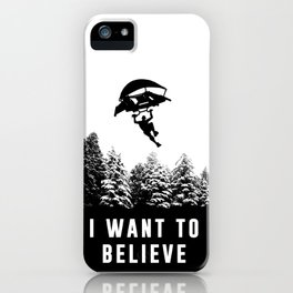 I want to believe; Fortnite's soldier iPhone Case