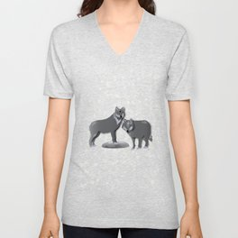 Wolves - 'A Fantastic Journey' Unisex V-Neck