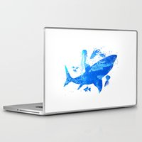 shark Laptop & iPad Skins featuring Shark by Corina Rivera Designs
