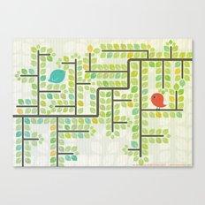 Green labyrinth Canvas Print