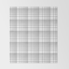 Simple Grid Pattern-Black on White-Mix & Match with Simplicity of life Throw Blanket