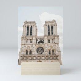 Notre-Dame Cathedral under the July Sun, Paris France | fine art travel print, travel photography to inspire | Saige Ashton Prints Mini Art Print