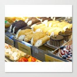 An Italian Dessert Feast Canvas Print