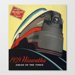 Twin Cities Hiawatha 1939 Canvas Print