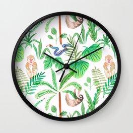 jungle lifestyle pattern Wall Clock