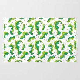 Fresh leaf lettuce white pattern Rug