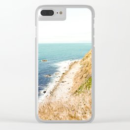 Travel photography Palos Verdes Ocean Cliffs Seascape Landscape III Clear iPhone Case