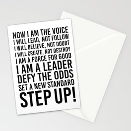 NOW I AM THE VOICE I WILL LEAD Stationery Cards