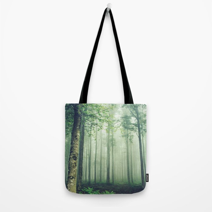 Foggy Woods Tote Bag