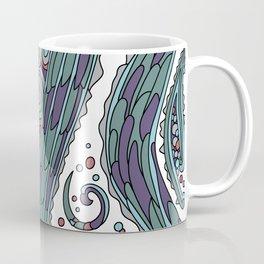 Wandering Abstract Line Art 38: Red Coffee Mug
