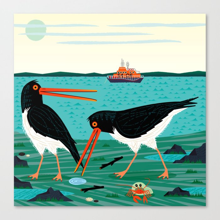 The Oystercatchers Canvas Print