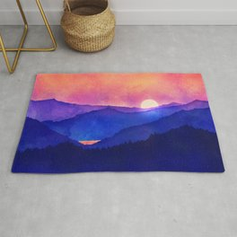 Cobalt Mountains Rug