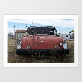 Beat Up Car Art Print