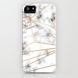 Marble & Gold 046 iPhone Case