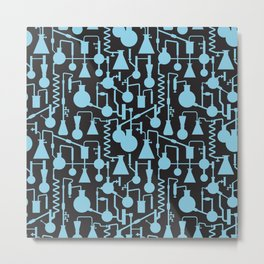 Seamless science lab pattern Metal Print