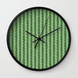 Bold Pattern Vertical Grass Wall Clock