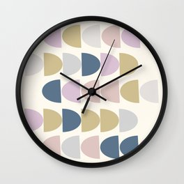 Simple Shapes in a Modern Winter Palette Wall Clock
