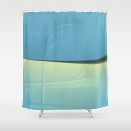 Pattern shadows in blue Shower Curtain