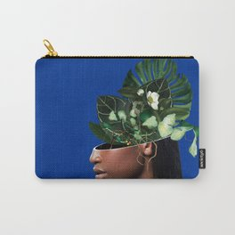 Lady Flowers and The Blue Butterfly Carry-All Pouch
