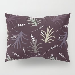 Flowering Grass in Plums and Greens Pillow Sham