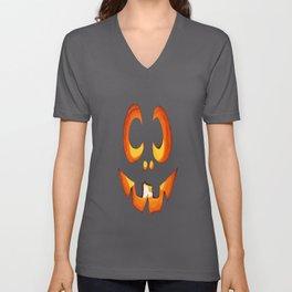 Vector Image of Friendly Halloween Pumpkin Unisex V-Neck