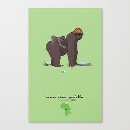 Endangered: The Cross River Gorilla Canvas Print