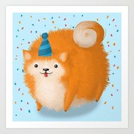 Party Pup Art Print