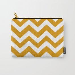 Harvest gold - orange color - Zigzag Chevron Pattern Carry-All Pouch
