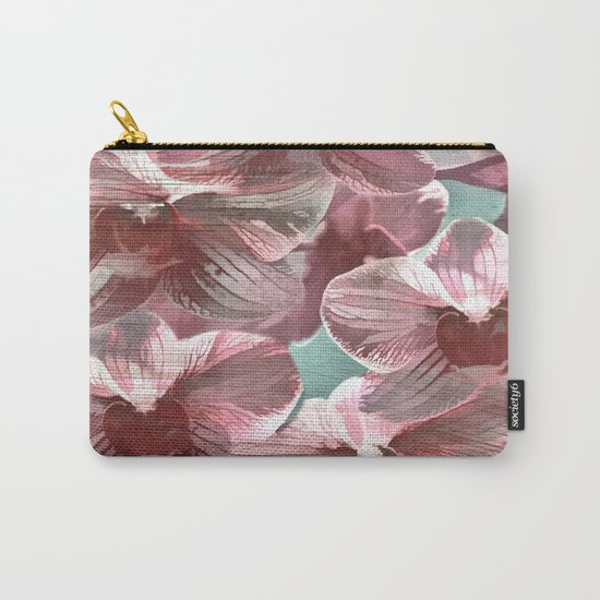 Vintage Pink Orchids Carry-All Pouch