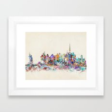 Dubai skyline Framed Art Print