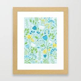 Blue Wildflowers Framed Art Print