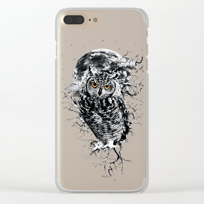 OWL BW II Clear iPhone Case