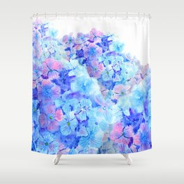 mountain of hydrangea Shower Curtain